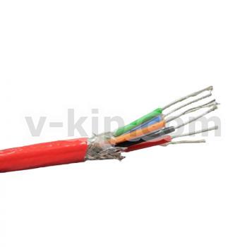 КММФЭ 6 х 0.2 кабель медный экранированный в оболочке из фторопласта фото 1
