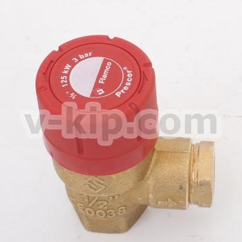Предохранительный резьбовой клапан Prescor 3 bar 1-2 - фото №1