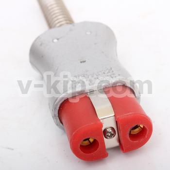 Разъем двухконтактный термостойкий (ZA727Si)-TX1004 фото 1