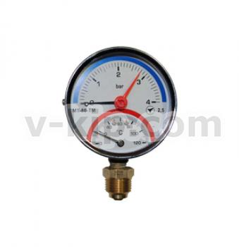 Термоманометры (радиальные) МТ-80ТМ-Р фото 1